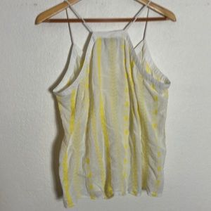 LOFT Tops - THE LOFT SIZE M EMBROIDERY TANK